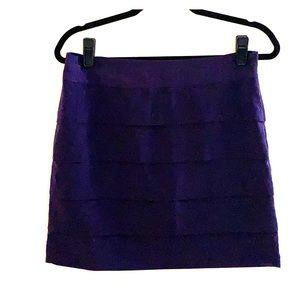 Loft Pencil Skirt Purple with Ruffles Size 4